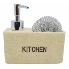 Σαπουνοθήκη Dispenser Κουζίνας Μπεζ Kitchen 794218 14,5x6x14υψ Ankor