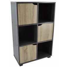 Βιβλιοθήκη Ξύλινη Με 3 Ντουλαπάκια Δίχρωμη 792655 60x30x94υψ