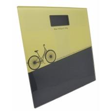 Ζυγαριά Μπάνιου Ηλεκτρονική Γυάλινη Ποδήλατο 791507 28x28x2,5υψ Ankor