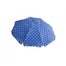 Ομπρέλα Θαλάσσης Μεταλλική 8 Ακτίνες Γαλάζιο Πουά Με Αεραγωγό Και Ανάκλιση 789139 Φ2m Ankor