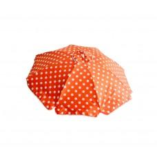 Ομπρέλα Θαλάσσης Μεταλλική 8 Ακτίνες Πορτοκαλί Πουά Με Αεραγωγό Και Ανάκλιση 789139 Φ2m Ankor
