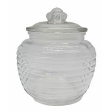 Βάζο Γυάλινο Με Γυάλινο Καπάκι 0,6lt 791873 Φ11,5x14υψ
