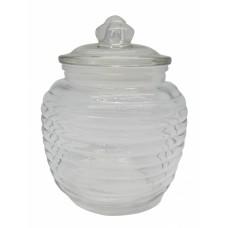 Βάζο Γυάλινο Με Γυάλινο Καπάκι 1,4lt 791880 Φ14,6x18υψ