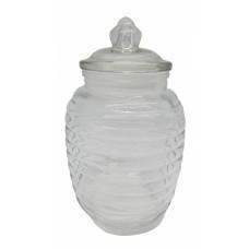 Βάζο Γυάλινο Με Γυάλινο Καπάκι 2,2lt 791897 Φ14,6x24υψ