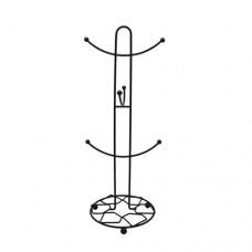 Κυπελοστάτης Μεταλλικός Μαύρο Ματ 794089 Φ16x40υψ Ankor