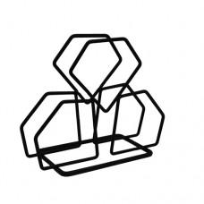 Χαρτοπετσετοθήκη Μεταλλική Μαύρο Ματ 794126 14x6x11,5υψ Ankor