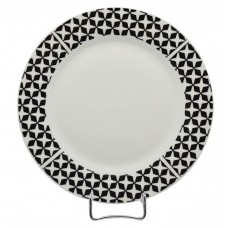 Σετ Πιάτα Πορσελάνης 18τεμ Στρογγυλό Μαύρο Σχέδιο R8047-18 Αnkor