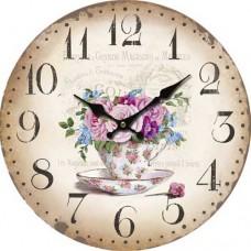 Ρολόι Τοίχου Ξύλινο Φ34εκ 796793 Ankor