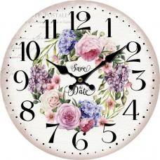 Ρολόι Τοίχου Ξύλινο Φ34εκ 796816 Ankor