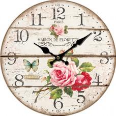 Ρολόι Τοίχου Ξύλινο Φ34εκ 796823 Ankor