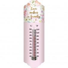 Θερμόμετρο Μεταλλικό Τοίχου 9,5x2x31υψ 795383 Ankor