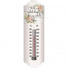 Θερμόμετρο Μεταλλικό Τοίχου 9,5x2x31υψ 795390 Ankor