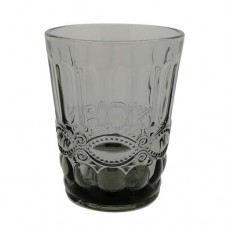 Ποτήρι Ουίσκυ Γυάλινο 240ml Γκρι - Μαύρο Φ8x10υψ 79524-4 Ankor