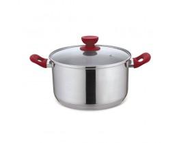 Κατσαρόλα Με Καπάκι Cucina Rossa Inox 24εκ Izzy 172134