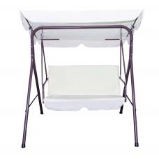 Κούνια Μεταλλική Διθέσια OEM Swing-2 153x115x155υψ Καθίσματος 110x48x 55εκ Ύψος Από Το Πάτωμα