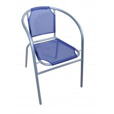 Καρέκλα Μεταλλική Με Γκρι Σκελετό Και Μπλε Textline OEM CH-ZSI1046-B 59x53x73υψ.