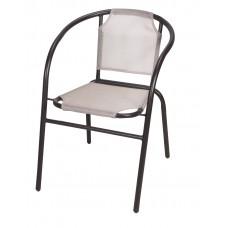 Καρέκλα Μεταλλική Textline Με Καφέ Σκελετό Και Σαμπανί  ΟΕΜ CH-ZS1046BR-CH