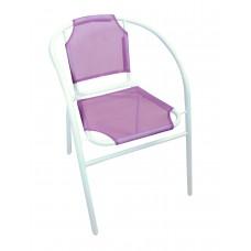 Καρέκλα Μεταλλική Με Άσπρο Σκελετό Και Μωβ Textline OEM CH-ZS1046W-PU 59x53x73υψ.