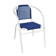 Πολυθρόνα Με Λευκό Σκελετό Και Σκούρο Μπλε Textline OEM CH-ZS1046W-DB