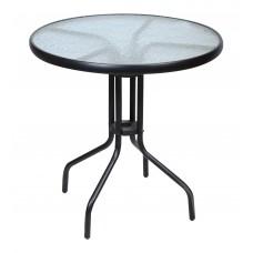 Τραπέζι Μεταλλικό Στρογγυλό Μαύρο 60εκ. OEM TAB-60BL 60x60x70υψ.
