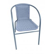 Καρέκλα Μεταλλική Με Γκρι Σκελετό Και Γκρι Rattan OEM CH-ZSI1027-2 59x53x73υψ.