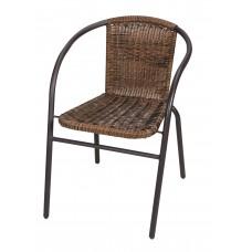Καρέκλα Μεταλλική Με Καφέ Σκελετό Και Καφέ Rattan 59.5Χ53Χ73ΕΚ ΟΕΜ CH-ZSI1027-2BR