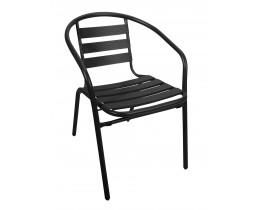 Καρέκλα Αλουμίνιο-Μέταλλο Σε Μαύρο Χρώμα OEM CH-017B 54x57x73υψ