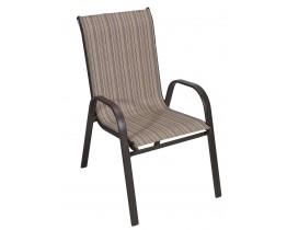 Καρέκλα Μεταλλική Textline Καφέ Σκελετός Με Καφέ Mix Πανί OEM CH-ZS6420BR-MBR