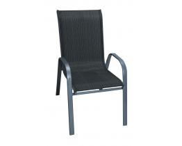 Καρέκλα Μεταλλική Textline Με Γκρι Σκελετό Και Νέο Μαύρο Πανί OEM CH-ZS6420-MBL 54x70x93υψ