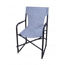 Καρέκλα Σκηνοθέτη Μεταλλική Με Μαύρο Σκελετό Και Ανοιχτό Mix Γκρι Πανί CH-5050BL-SL 53x52x92υψ