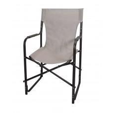 Καρέκλα Σκηνοθέτη Μεταλλική Με Καφέ Σκελετό Και Νέο Κρεμ Πανί CH-5050BR-NCR 53x52x92υψ