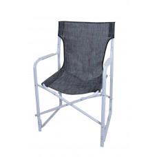 Καρέκλα Σκηνοθέτη Μεταλλική Με Λευκό Σκελετό Και Μαύρο Mix Πανί CH-5050W-BBL 53x52x92υψ