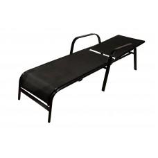 Ξαπλώστρα Μεταλλική Μαύρο Σκελετό Μαύρο Textilene CH-1157-BL
