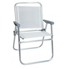Καρέκλακι Παραλίας Αλουμινίου Πτυσσόμενο Λευκό 52x56x80υψ EPAM 03.CH-150-W