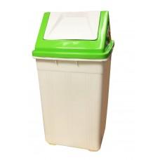 Καδος Απορριματων Πλαστικός Μα Καπάκι OEM 0020 27x27x50υψ - Λαχανί Καπάκι