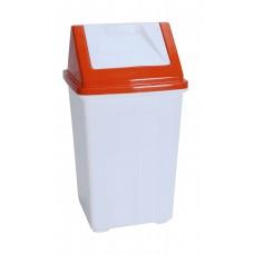 Καδος Απορριματων Πλαστικός Μα Καπάκι OEM 0020 27x27x50υψ - Πορτοκαλί Καπάκι