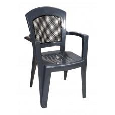 Καρέκλα Πλαστική Αφροδίτη Με Πλάτη Σε Στυλ Ψάθας OEM 0137 90x59x51 - 48x46 Κάθισμα - Γκρι