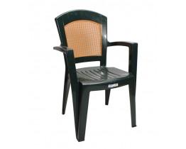 Πλαστική Καρέκλα Αφροδίτη με Πλάτη σε στυλ Ψάθας Πράσινη OEM 0137 90x59x51 - 48x46 Καθίσμα