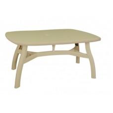 Πλαστικό Τραπέζι Βασιλιάς OEM  0124 80x125xY72εκ - Μπεζ