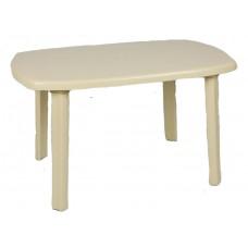 Πλαστικό Τραπέζι Οβάλ Με Ίσια Πόδια OEM  0125 90x150εκ - Μπεζ