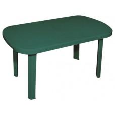 Πλαστικό Τραπέζι Οβάλ Με Ίσια Πόδια OEM  0125 90x150εκ - Πράσινο
