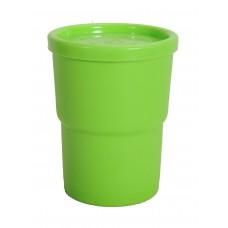 Ποτηρι Με Καπάκι Πλαστικό OEM Α351 7,5x7,5x10υψ - Λαχανί