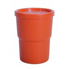 Ποτηρι Με Καπάκι Πλαστικό OEM Α351 7,5x7,5x10υψ - Πορτοκαλί