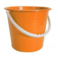 Κουβαδάκι Πλαστικό Με Χερούλι Στρογγυλο Ε 24x24x20υψ OEM 0095 - Πορτοκαλί