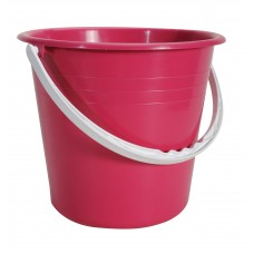 Κουβαδάκι Πλαστικό Με Χερούλι Στρογγυλο Ε 24x24x20υψ OEM 0095 - Κόκκινο