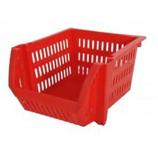 Καλαθι Τακτοποιησης Στοιβαζόμενο Μονο OEM 0218 22x23,5x13υψ - Κόκκινο