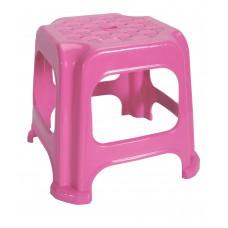 Σκαμπω Μινι Πλαστικό Παιδικό 20x20x22υψ OEM 0230 - Ροζ