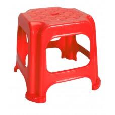 Σκαμπω Μινι Πλαστικό Παιδικό 20x20x22υψ OEM 0230 - Κόκκινο