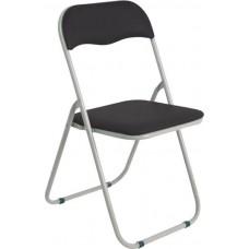 Καρέκλα Μεταλλική Πτυσσόμενη Μαύρο - Γκρι Σκελετό Linda Woodwell 43x46x80υψ 17575Ε557,1