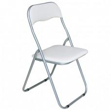 Καρέκλα Μεταλλική Πτυσσόμενη Λευκό - Γκρι Σκελετό Linda Woodwell 43x46x80υψ 19122Ε557,4